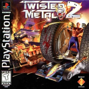 Twisted Metal 2's cover art.  They don't paint them like they used to.